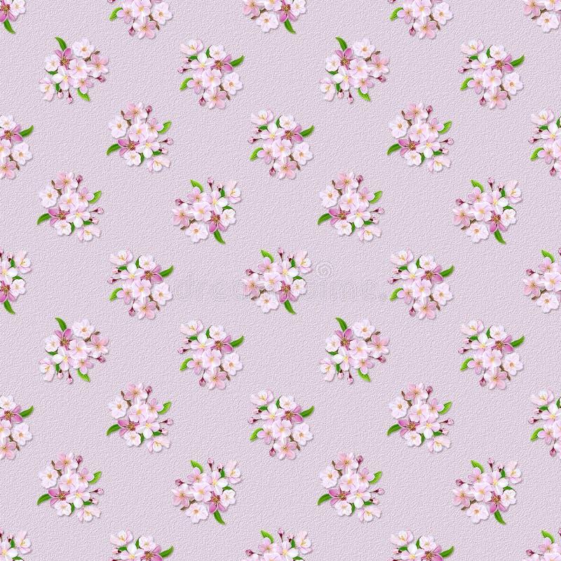 floral αναδρομικός άνευ ραφής π&r στοκ εικόνα με δικαίωμα ελεύθερης χρήσης