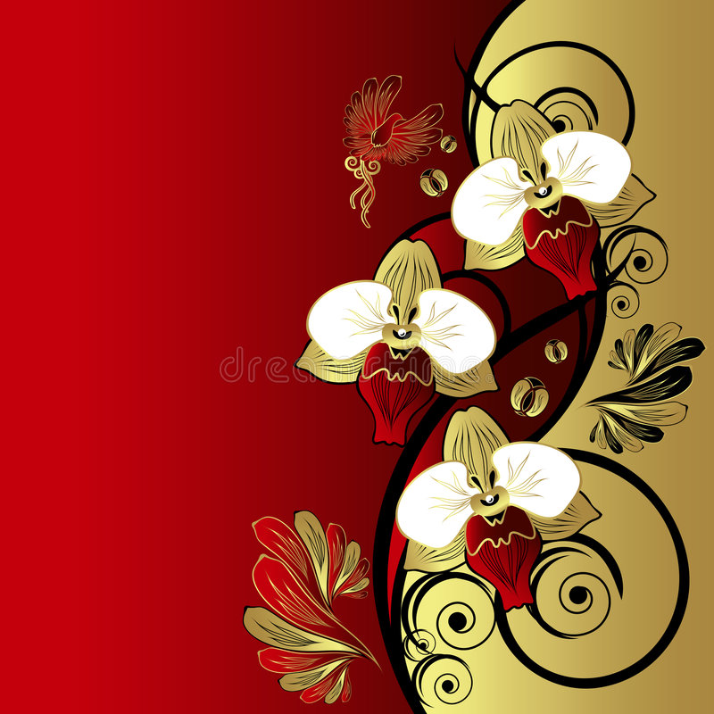 floral αναδρομικός ανασκόπηση&si ελεύθερη απεικόνιση δικαιώματος
