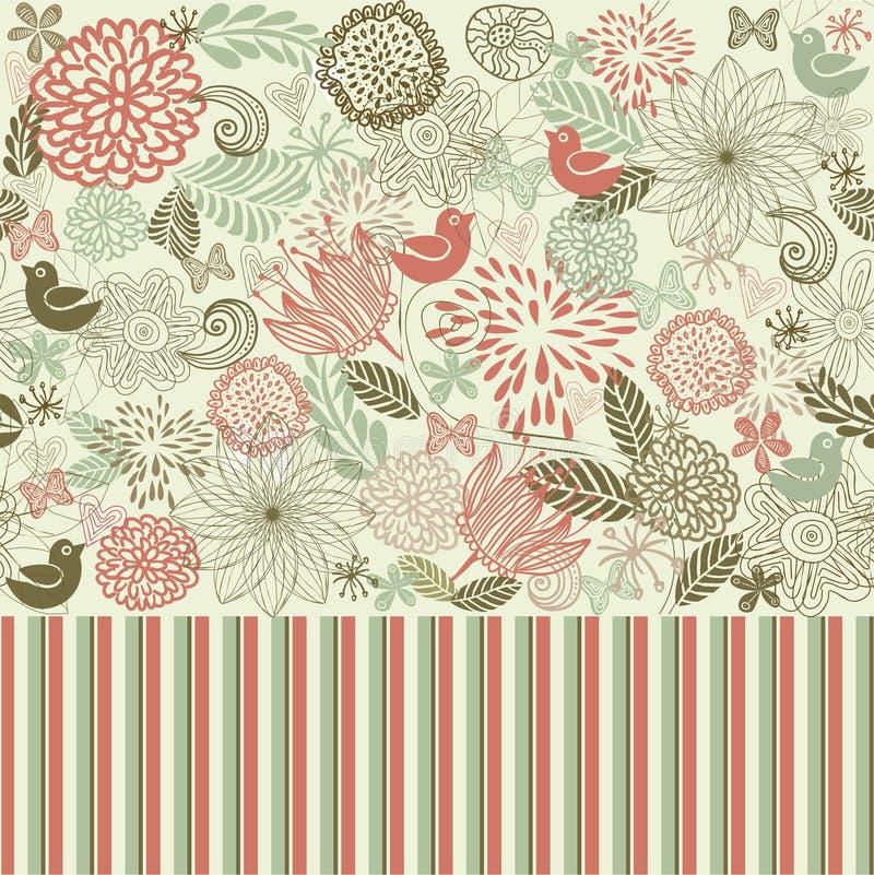 floral αναδρομικό άνευ ραφής διά διανυσματική απεικόνιση
