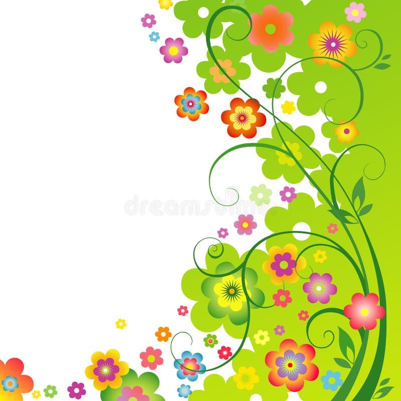 Floral ανασκόπηση άνοιξη ελεύθερη απεικόνιση δικαιώματος