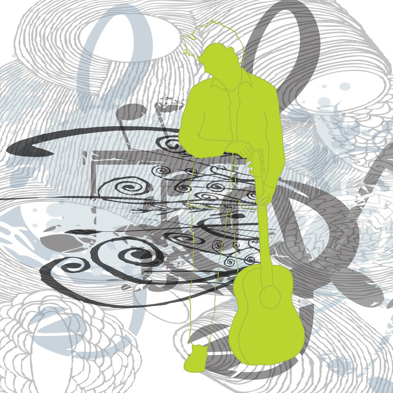 floral απεικόνιση μουσική ελεύθερη απεικόνιση δικαιώματος