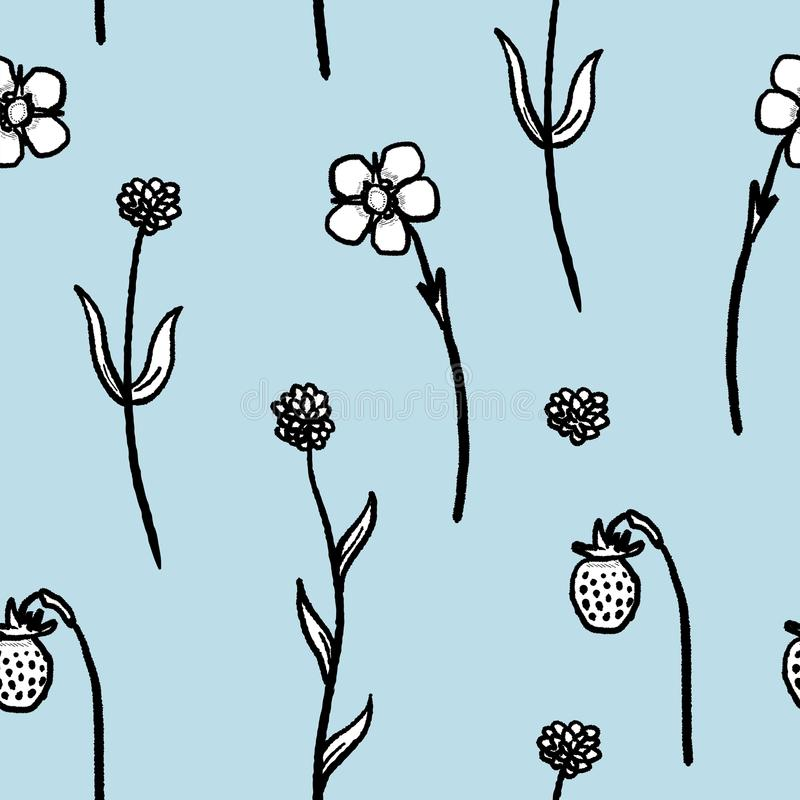 floral απεικόνιση σχεδίου καρτών ανασκόπησης φόντου ελεύθερη απεικόνιση δικαιώματος