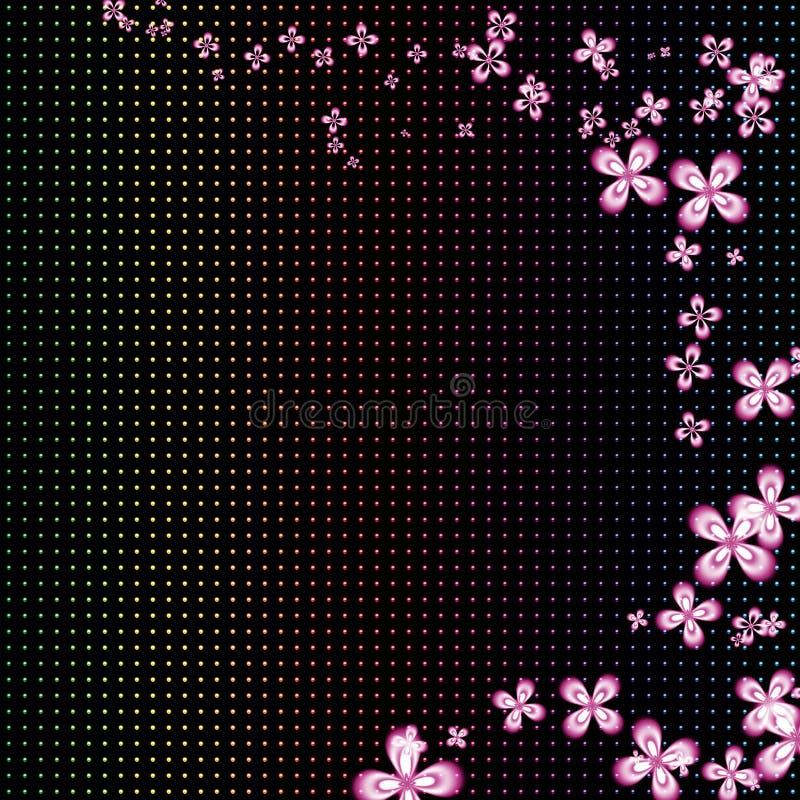 Floral αφηρημένη ανασκόπηση διανυσματική απεικόνιση