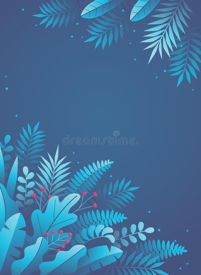 Floral αφηρημένο πίσω μπλε ελεύθερη απεικόνιση δικαιώματος