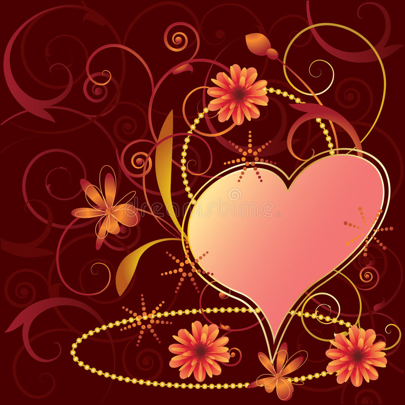 floral βαλεντίνοι ανασκόπησης διανυσματική απεικόνιση