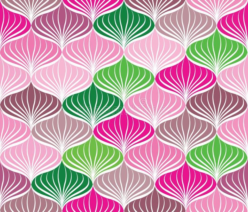Floral γεωμετρική διακόσμηση σχεδίων Abstact άνευ ραφής απεικόνιση αποθεμάτων