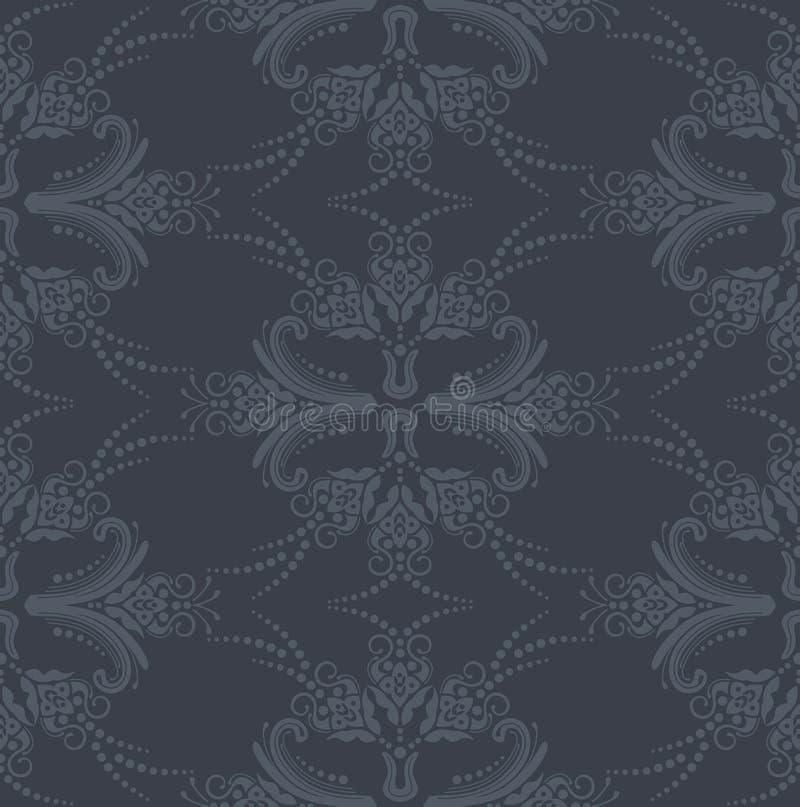 floral γκρίζα άνευ ραφής ταπετσ& ελεύθερη απεικόνιση δικαιώματος