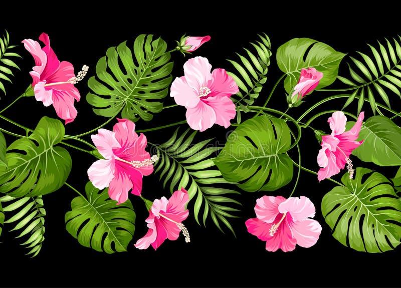 Floral γραμμικό σχέδιο κεραμιδιών απεικόνιση αποθεμάτων