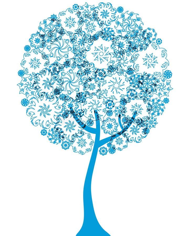 floral δέντρο σκιαγραφιών περι&gam απεικόνιση αποθεμάτων