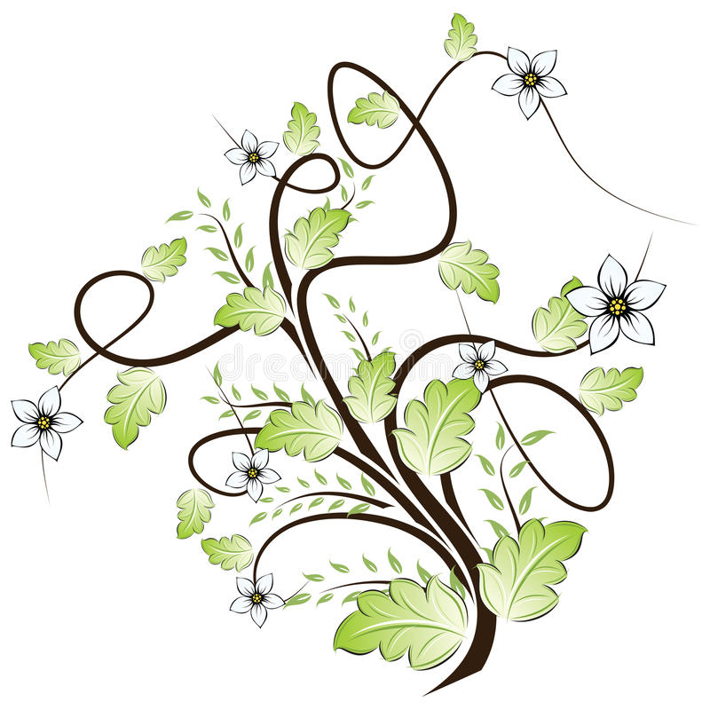 Download Floral διάνυσμα ανασκόπησης Διανυσματική απεικόνιση - εικονογραφία από κύλινδρος, λουλούδι: 13176462