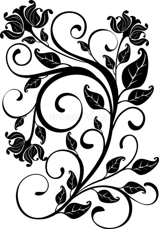 floral διάνυσμα διακοσμήσεων απεικόνιση αποθεμάτων