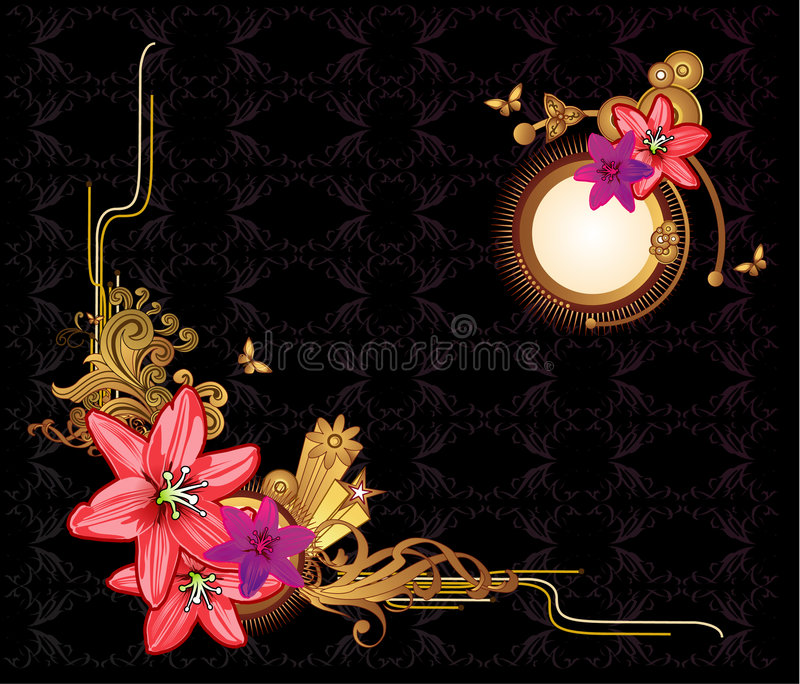 floral διάνυσμα ελεύθερη απεικόνιση δικαιώματος