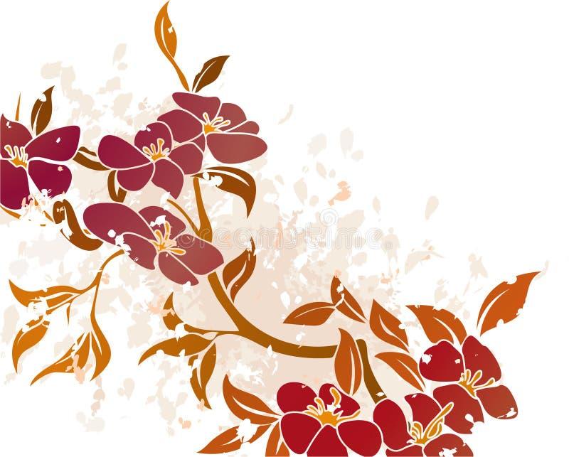 floral διάνυσμα grunge ανασκόπησης διανυσματική απεικόνιση