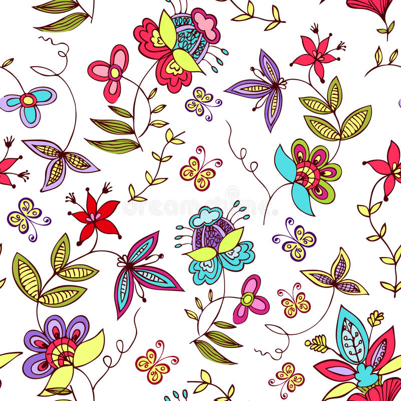 floral διακόσμηση άνευ ραφής ελεύθερη απεικόνιση δικαιώματος