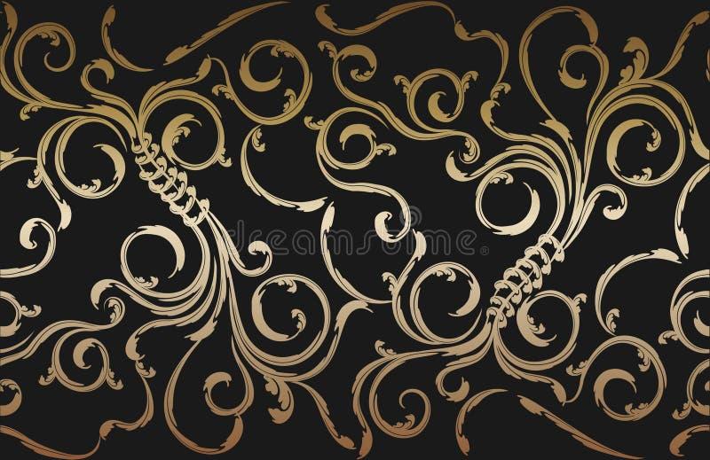 floral διακόσμηση άνευ ραφής διανυσματική απεικόνιση