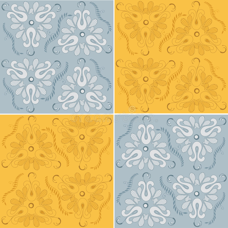 Floral διακόσμηση άνευ ραφής Στοκ εικόνα με δικαίωμα ελεύθερης χρήσης