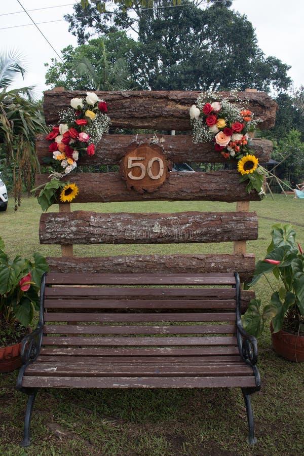 Floral διακόσμηση χώρας με τον αριθμό 50 στοκ εικόνες