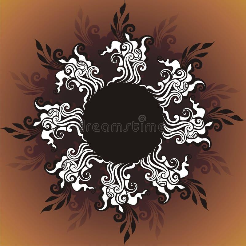 floral διανυσματικός τρύγος κ διανυσματική απεικόνιση