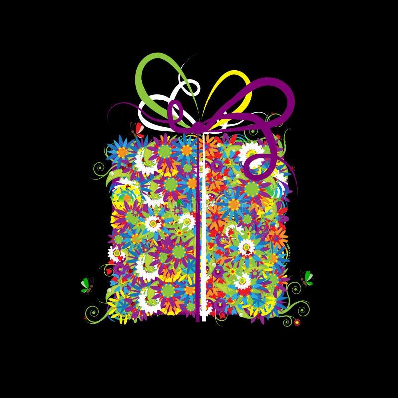 floral δώρο κιβωτίων απεικόνιση αποθεμάτων