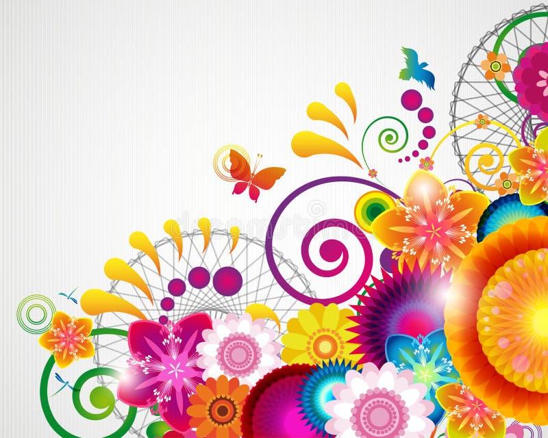 floral δώρο σχεδίου καρτών ανα&si απεικόνιση αποθεμάτων