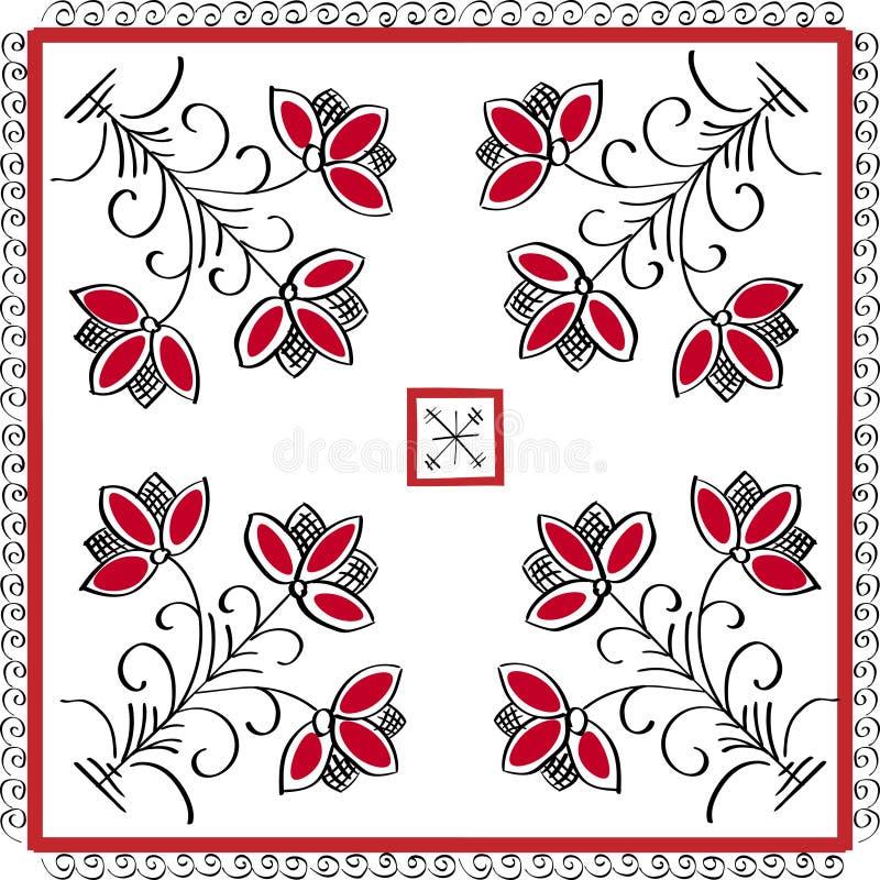 Floral εθνική διακόσμηση στοκ εικόνα