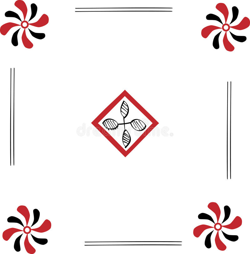 Floral εθνική διακόσμηση στοκ φωτογραφία με δικαίωμα ελεύθερης χρήσης