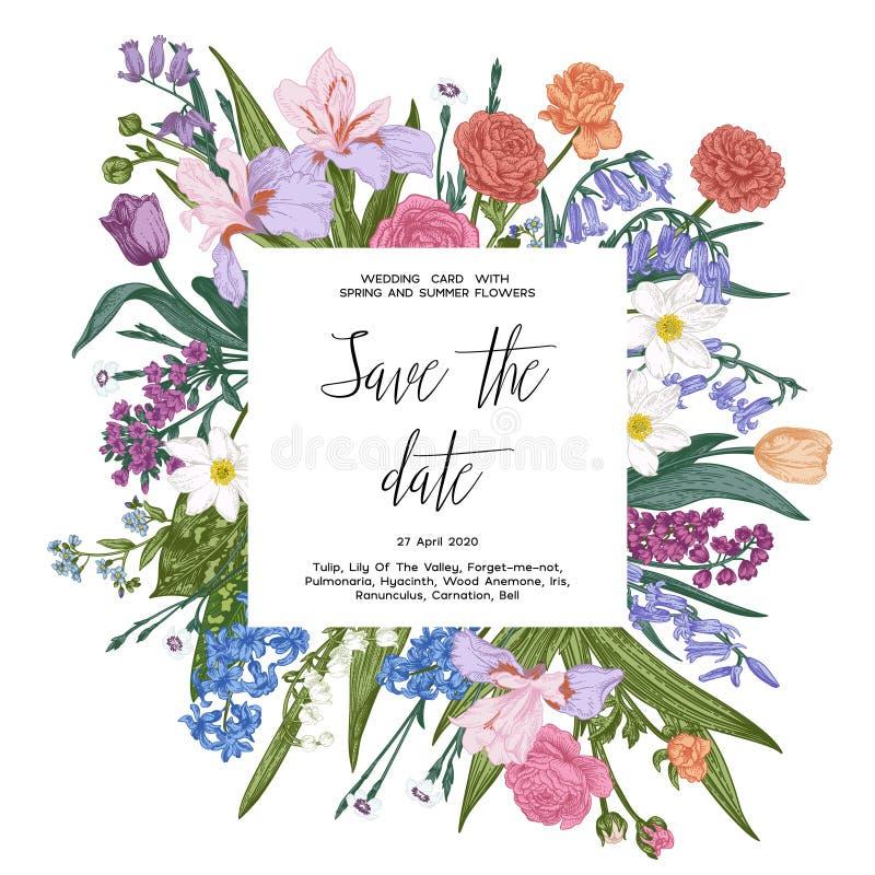 Floral εκλεκτής ποιότητας απεικόνιση ελεύθερη απεικόνιση δικαιώματος