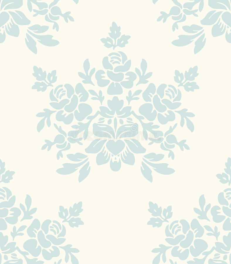 floral ελαφρύς άνευ ραφής τρύγο& απεικόνιση αποθεμάτων