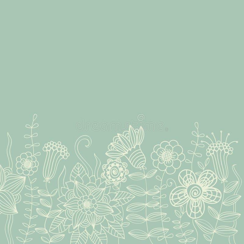 floral ελαφρύς τρύγος ανασκόπη& ελεύθερη απεικόνιση δικαιώματος