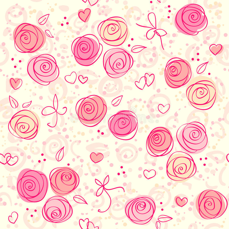 floral ελαφρύ άνευ ραφής διάνυσ&m ελεύθερη απεικόνιση δικαιώματος