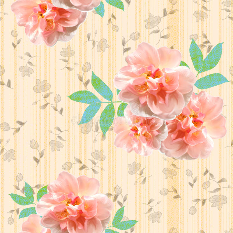 floral επανάληψη ζωηρή ελεύθερη απεικόνιση δικαιώματος