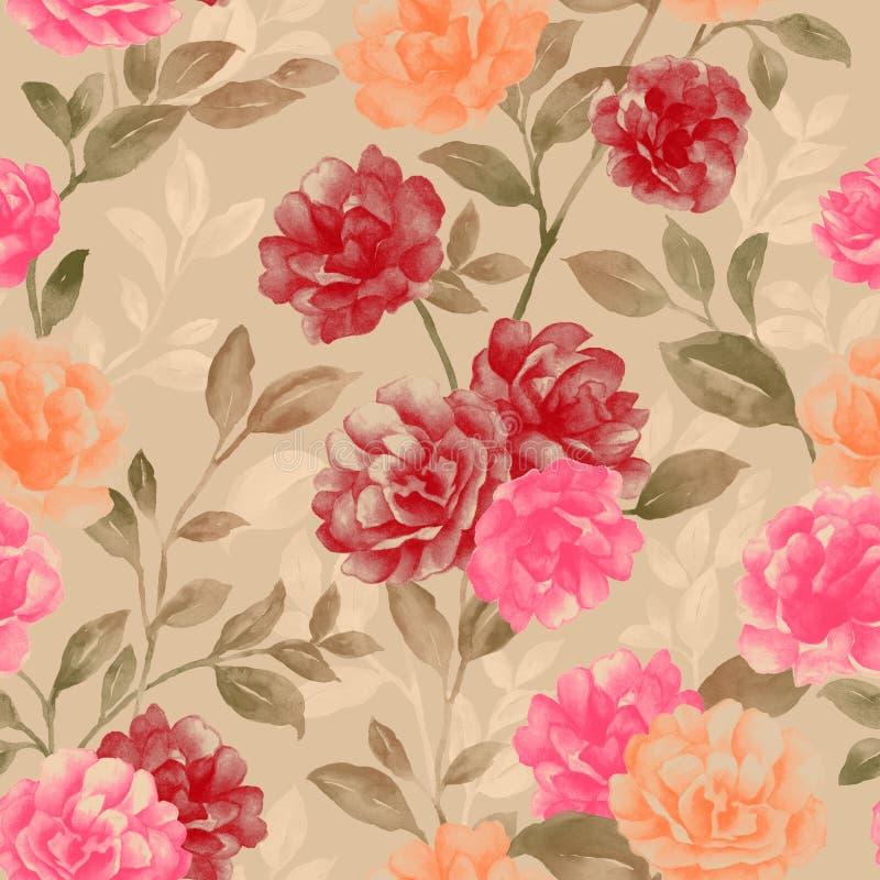 floral επανάληψη ζωηρή απεικόνιση αποθεμάτων