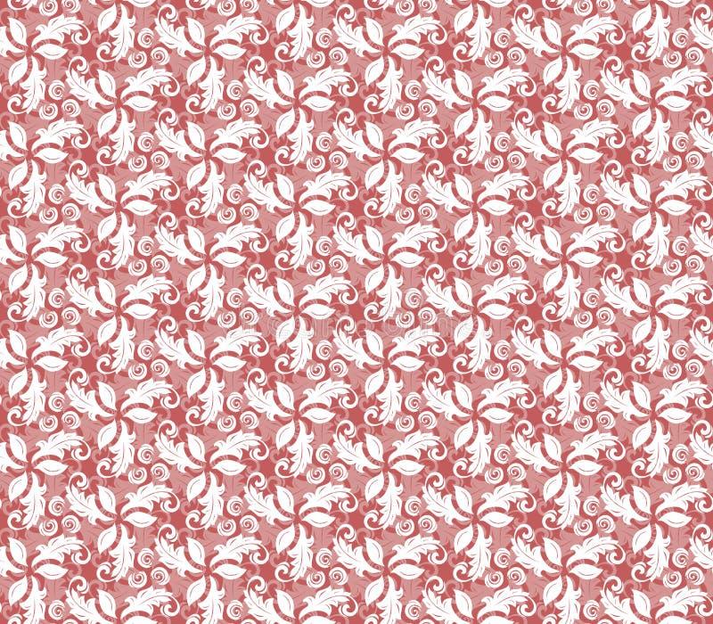 Floral λεπτό άνευ ραφής διανυσματικό κόκκινο σχέδιο ελεύθερη απεικόνιση δικαιώματος