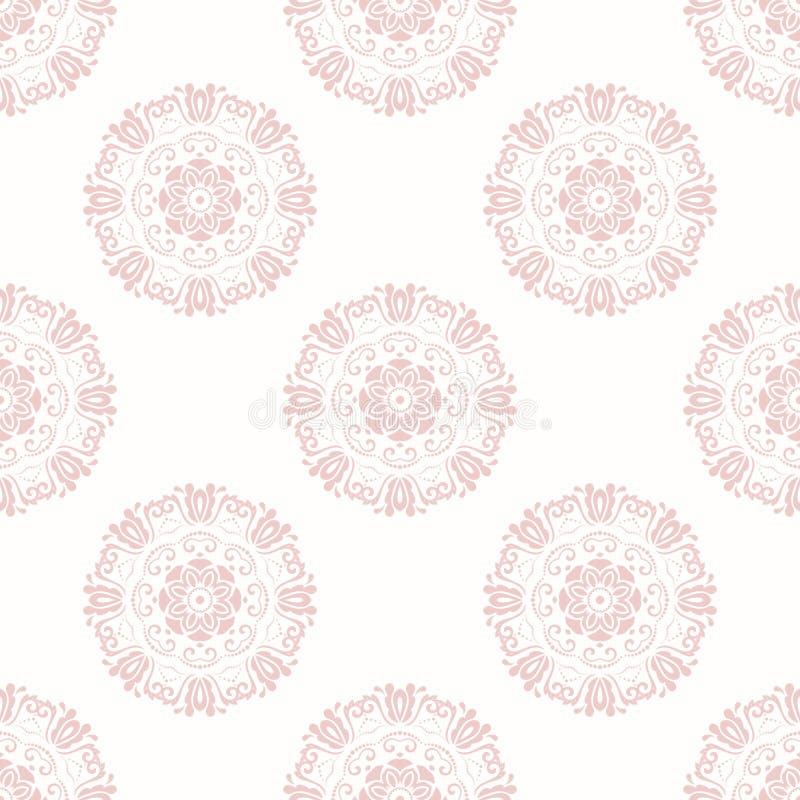 Floral λεπτό άνευ ραφής διανυσματικό σχέδιο διανυσματική απεικόνιση