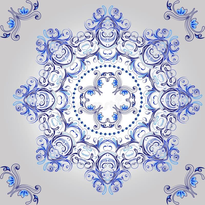 floral διακοσμητικός κύκλος προτύπων mandala απεικόνιση αποθεμάτων