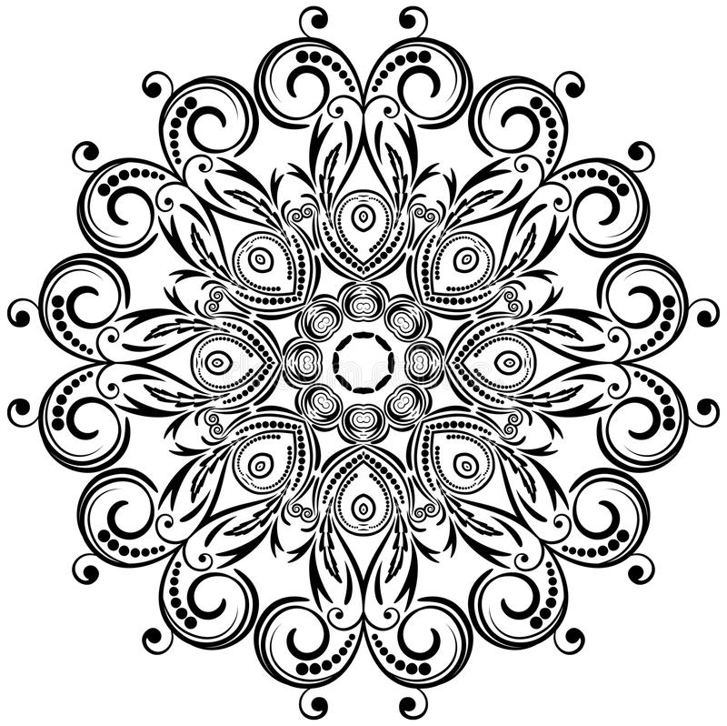Floral διακόσμηση κύκλων. ελεύθερη απεικόνιση δικαιώματος