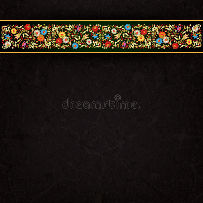 Floral διακόσμηση Abctract στο υπόβαθρο grunge ελεύθερη απεικόνιση δικαιώματος