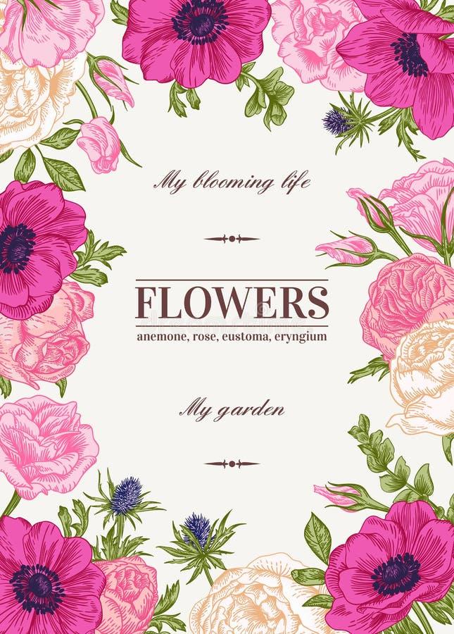 Floral διανυσματική ανασκόπηση απεικόνιση αποθεμάτων