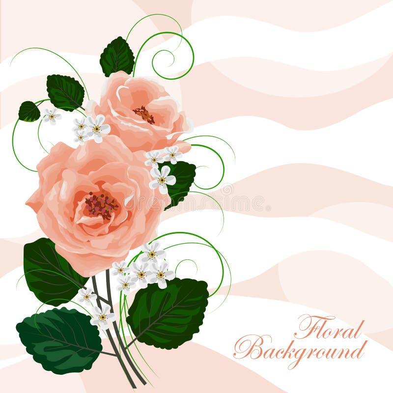 Floral διανυσματική ανασκόπηση ελεύθερη απεικόνιση δικαιώματος