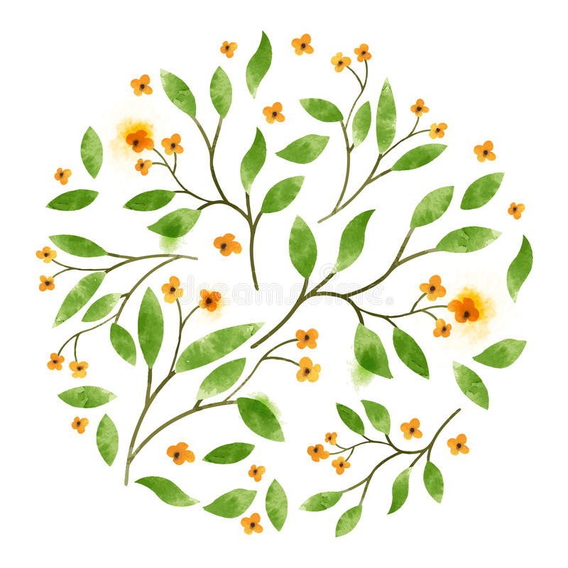 Floral διανυσματικό Watercolour απεικόνιση αποθεμάτων