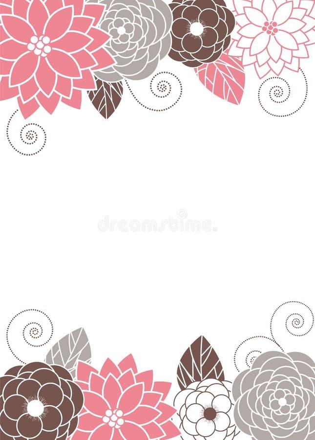 Floral κάρτα πρόσκλησης διανυσματική απεικόνιση