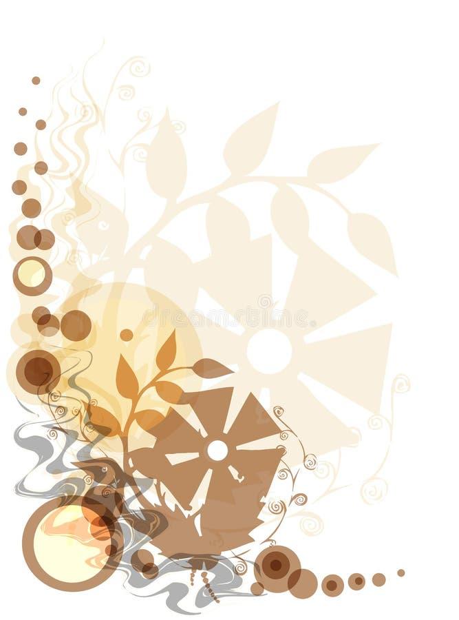 floral κίτρινος ανασκόπησης ελεύθερη απεικόνιση δικαιώματος