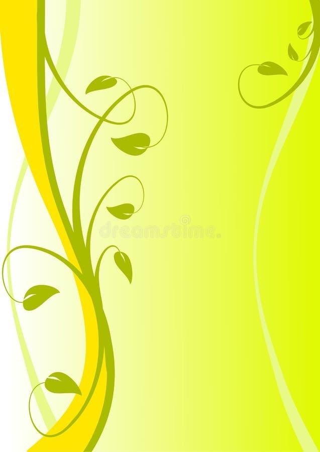 floral κίτρινος ανασκόπησης απεικόνιση αποθεμάτων