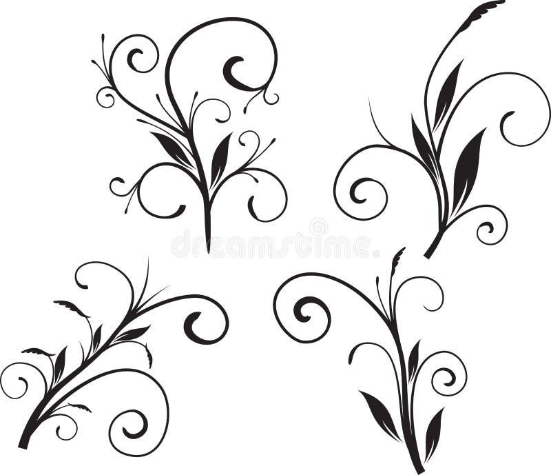 floral καθορισμένο διάνυσμα διανυσματική απεικόνιση