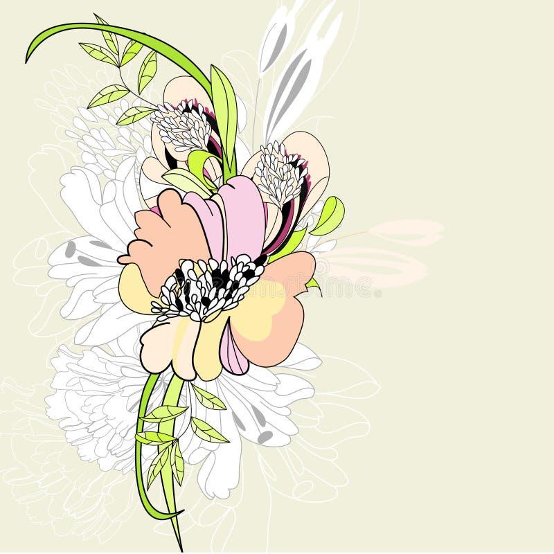 floral καλοκαίρι ανασκόπησης απεικόνιση αποθεμάτων