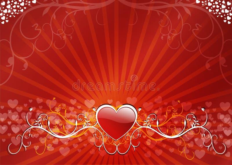 floral καρδιά ανασκόπησης ελεύθερη απεικόνιση δικαιώματος