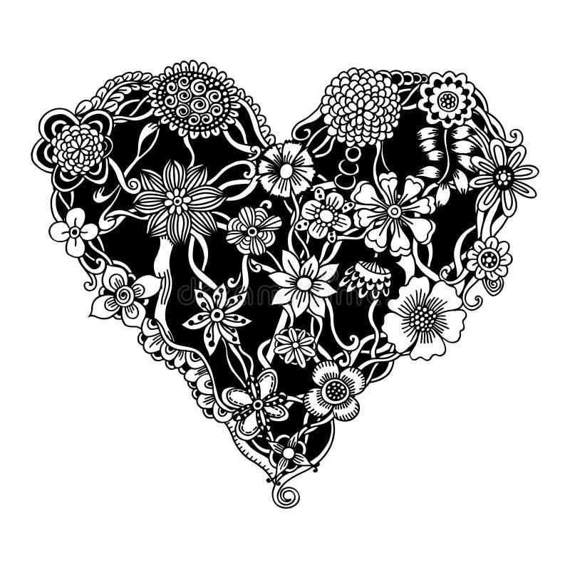 floral καρδιά περίκομψη ελεύθερη απεικόνιση δικαιώματος