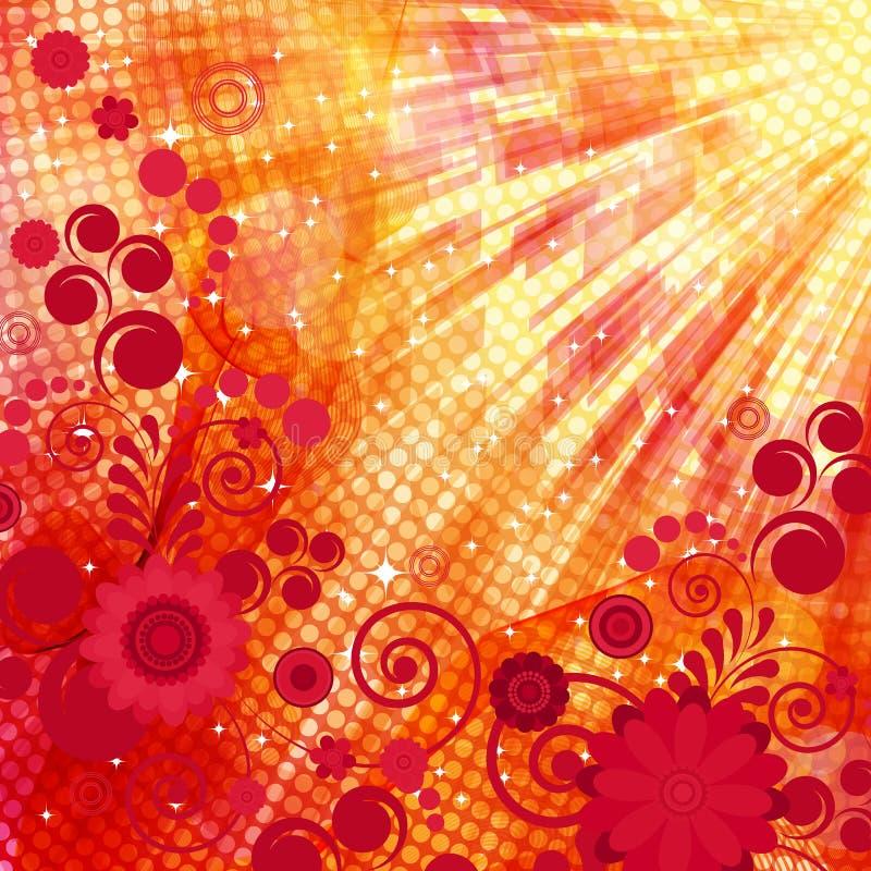 floral καυτός ανασκόπησης ελεύθερη απεικόνιση δικαιώματος