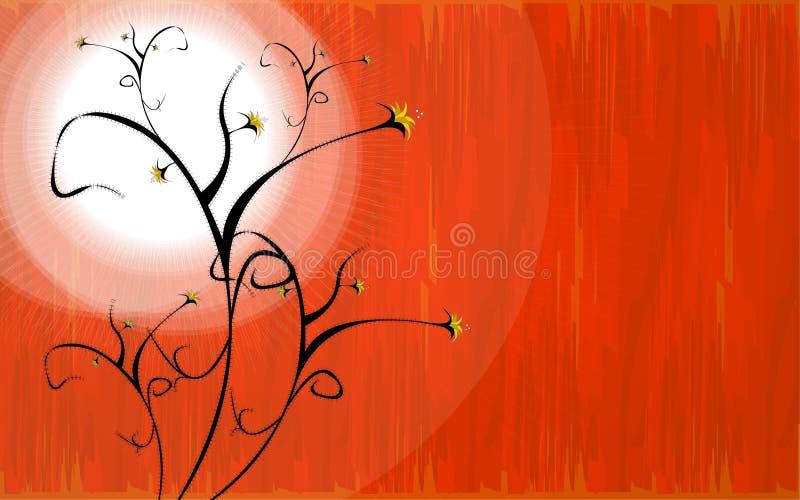 floral καυτός διανυσματική απεικόνιση