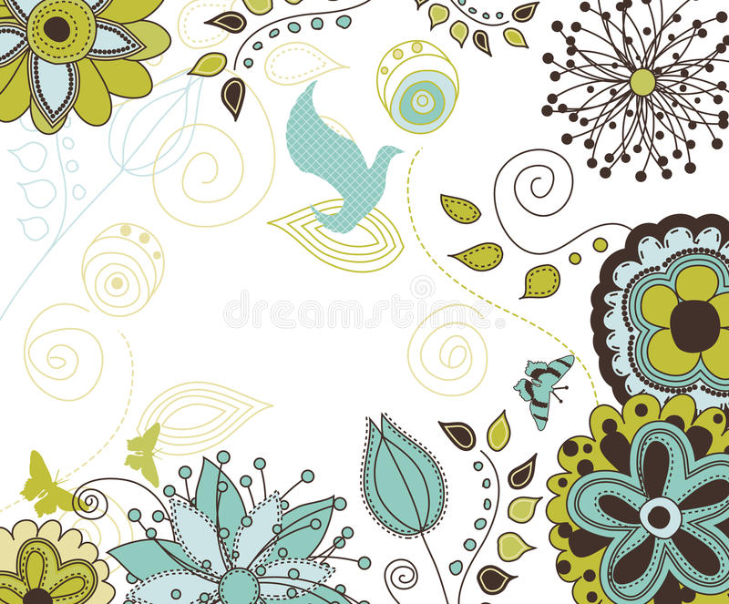 floral κείμενο φύσης ανασκόπησή&s ελεύθερη απεικόνιση δικαιώματος